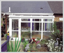 self build lean to conservatory