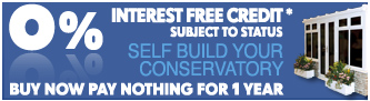 interest free credit on diy conservatories, windows and doors